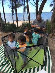 daddy beach babies